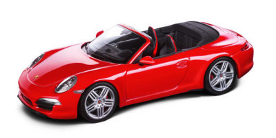 Модель автомобиля Porsche 991 Carrera Cabriolet, Red, 2012, Scale 1:43
