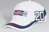 Бейсболка Porsche Martini Racing Baseball Cap, White, артикул WAP0800500C