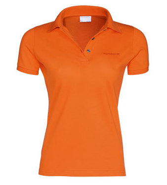 Женское поло Porsche Women's Polo Shirt, Pure Orange