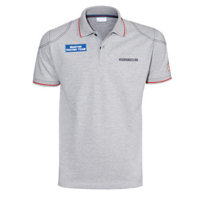 Мужская футболка поло Porsche Men's Martini Racing Polo Shirt, Grey