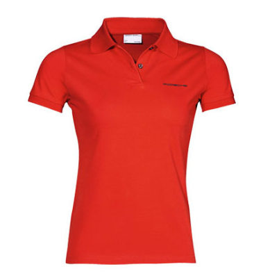 Женское поло Porsche Porsche Women's Polo Shirt, Pure Red
