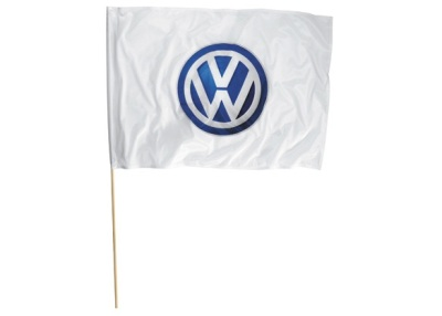 Флаг с эмблемой Volkswagen Logo Big Flag, White