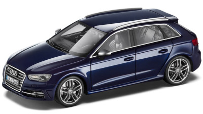 Модель автомобиля Audi S3 Sportback, Scale 1:43, Estoril Blue
