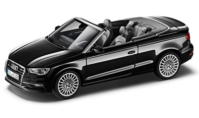 Модель автомобиля Audi A3 Cabriolet, Scale 1:43, Phantom Black