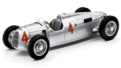 Модель автомобиля Audi Auto Union Type C, Scale 1:43, Silver