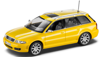 Модель автомобиля Audi RS4 Avant B5, Scale 1:43, Imola Yellow