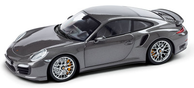 Модель автомобиля Porsche 911 Turbo S, Scale 1:18, Agate Grey Metallic