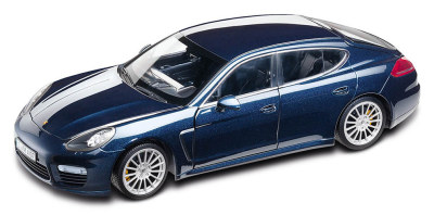Модель автомобиля Porsche Panamera Turbo S, Deep Blue, Scale 1:18