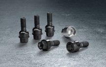 Секретки для колес Porsche Wheel bolts, Black, including anti-theft protection