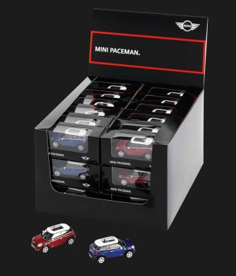 Модель автомобиля Mini Paceman, Starlight Blue Metallic and Blazing Red, Scale 1:64