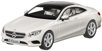 Модель автомобиля Mercedes S-Class Coupé, Scale 1:43, Designo Diamond White Bright