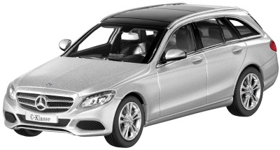 Модель автомобиля Mercedes C-Class Estate, Avantgrade, Scale 1:43, Iridium Silver