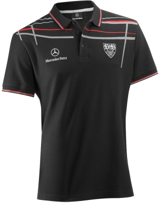 Мужская рубашка-поло Mercedes Men's Polo Shirt, VfB Selection 2014, Black