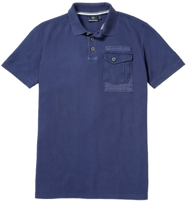 Мужская рубашка-поло Mercedes Men's Trucker Polo Shirt, Blue