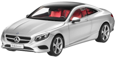 Модель автомобиля Mercedes S-Class Coupé, Scale 1:18, Iridium Silver