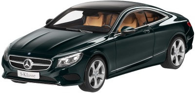 Модель автомобиля Mercedes S-Class Coupé, Scale 1:18, Emerald Green