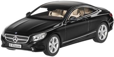 Модель автомобиля Mercedes S-Klasse, Coupé 1/43 Black