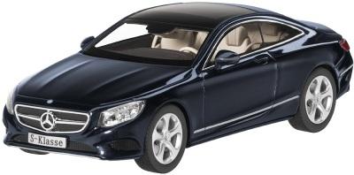 Модель автомобиля Mercedes S-Klasse, Coupé 1/43 Blue