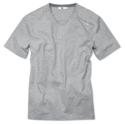Мужская футболка BMW T-Shirt (v-neck), Men, Grey Marl