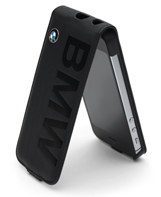 Складной чехол BMW для Apple iPhone 5s, Mobile Phone Flip Cover, Black Leather