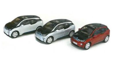 Модель автомобиля BMW i3 (i01), 1:64 scale, box, mixed colours
