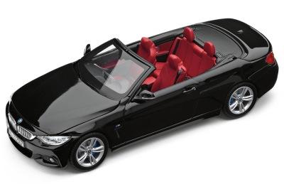 Модель автомобиля BMW 4 серии Кабриолет (F33), Sapphire Black, Scale 1:43