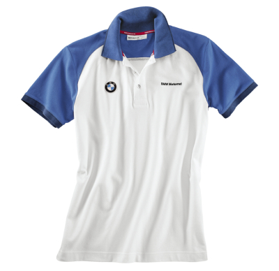 Мужская рубашка-поло BMW Motorrad Logo Polo Shirt in White, for men