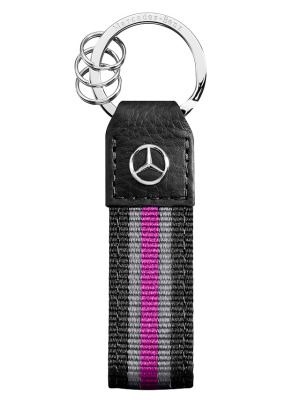 Брелок для ключей Mercedes Valencia Key Ring, Black/Pink