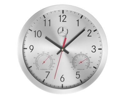 Настенные часы Mercedes Wall Clock Silver