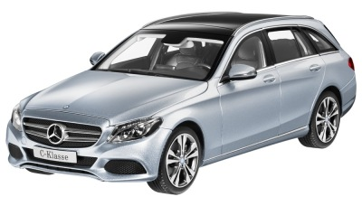 Модель Mercedes-Benz C-Class Estate Avantgarde S205, Diamond Silver, 1:18 Scale