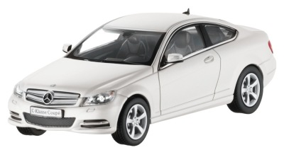Модель Mercedes-Benz C-Class Coupe C204, Diamond White Bright, 1:43 Scale