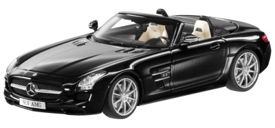 Модель Mercedes-Benz SLS AMG Roadster R197, Obsidian Black, 1:43 Scale