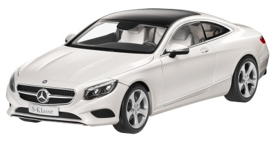 Модель автомобиля Mercedes S-Class Coupe C217, Designo Diamond White Bright, 1:18 Scale