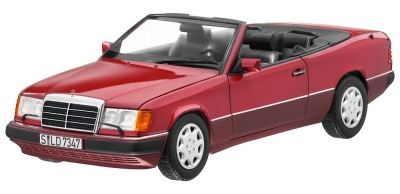 Модель Mercedes-Benz 300 CE-24 Cabriolet A124 (1992–1993), Almandine Red Metallic, 1:18 Scale