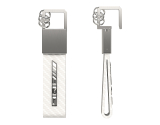 Брелок Mercedes AMG Carbon Key Ring White, артикул B66953849