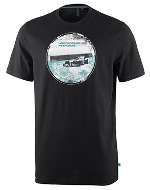 Мужская футболка Mercedes AMG F1 Mens Graphic Tee Black