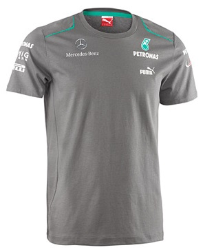 Мужская футболка Mercedes AMG F1 Mens Team Tee Grey