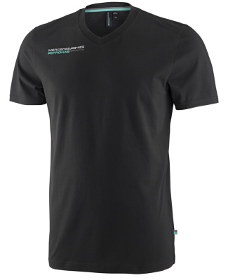 Мужская футболка Mercedes AMG F1 Mens  V-Neck Fan Tee Black