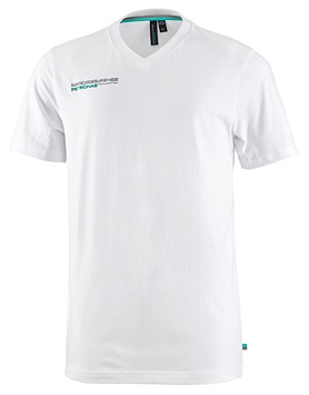 Мужская футболка Mercedes AMG F1 Mens  V-Neck Fan Tee White