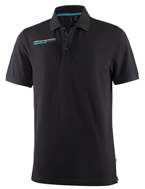 Мужское поло Mercedes AMG F1 Mens Polo Shirt Black