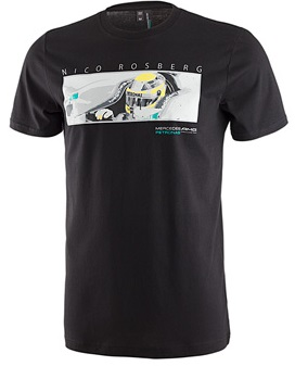 Мужская футболка Mercedes AMG F1 Nico Car Tee Black