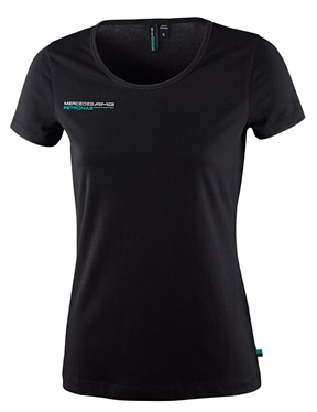 Женская футболка Mercedes AMG F1 Womens Fan Tee Black