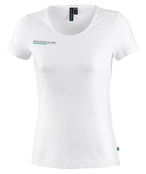 Женская футболка Mercedes AMG F1 Womens Fan Tee White