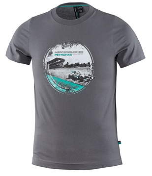 Детская футболка Mercedes AMG F1 Kids T-Shirt Grey