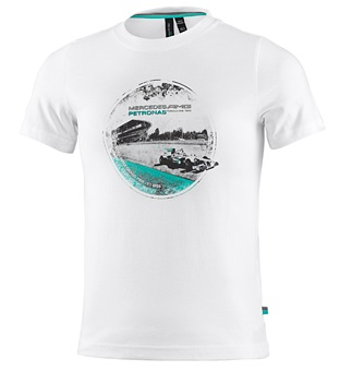 Детская футболка Mercedes AMG F1 Kids T-Shirt White