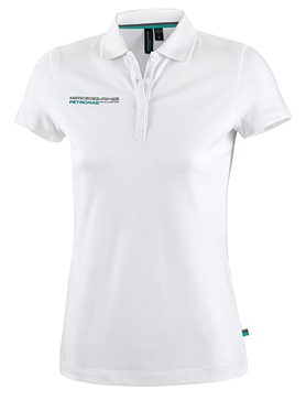Женская рубашка-поло Mercedes AMG F1 Womens Polo Shirt White