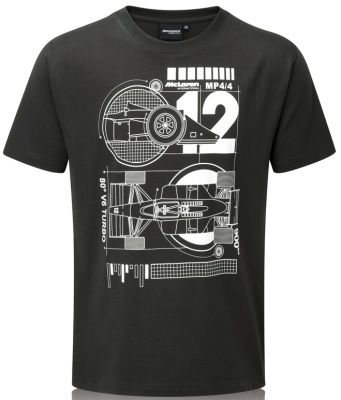 Футболка McLaren Men's MP4/4 Crew Neck t-Shirt