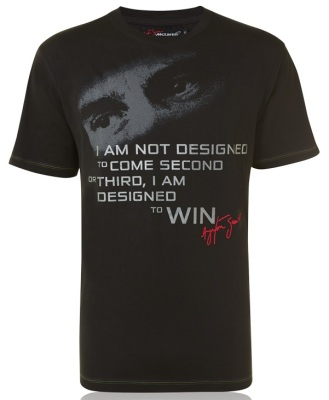 Футболка McLaren Men's Ayrton Senna by McLaren Quote T-Shirt