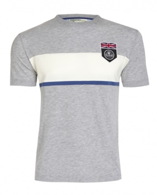 Футболка Lotus UK Flag Horizontal Stripe T-shirt Grey
