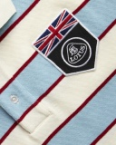 Рубашка-поло Lotus UK Flag Horizontal Stripe Polo Shirt Blanc, артикул 5055421522346
